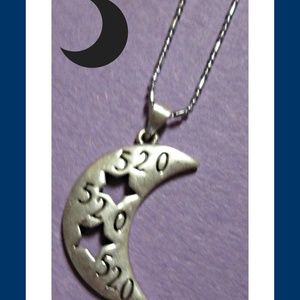 18KRP Moon/Star/520 Design Necklace